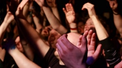 Crowd at Rock Gig - Clapping & Devil Horns HD Stock Footage