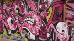 Graffiti on wall in belfast city centre, northern ireland Stock Footage