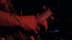 Guitar Solo - Rock Band Live on Stage HD Stock Footage