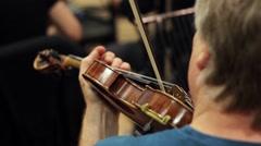 Tuning Violin - Close Up, HD Stock Footage
