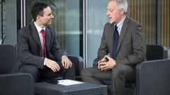 Business people talking together - stock footage