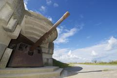 Battery of longues sur mer Stock Photos