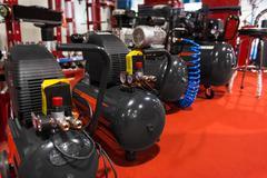 Air compressor pressure pumps Stock Photos