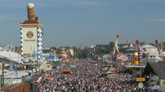 4K FHD Munich Beer Festival Oktoberfest Octoberfest Crowded Crowds Visitors Stock Footage