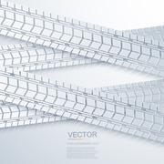 vector modern trace of the tire background - stock illustration