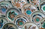Stock Photo of romanian traditional ceramic plates