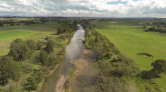 River by air Stock Footage