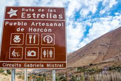 street sign in chile - stock photo