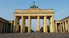 Berlin people walking through Brandenburger Tor 4K Stock Footage