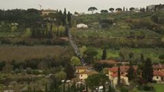 Tuscan landscape Stock Footage