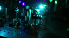 Scientific research , laser technology - stock footage