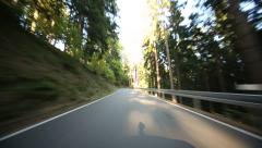 POV Onboard-Camera on a country road in Germany Stock Footage