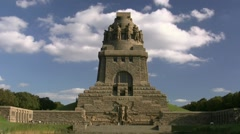 Battle Of The Nations Monument - Leipzig, Germany Stock Footage