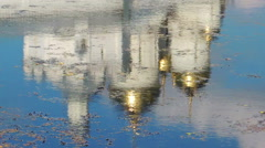 Reflection on the water (Monastery) 2 Stock Footage