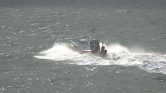 liverpool pilot boat in liverpool bay, england - stock footage