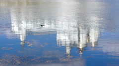 Reflection on the water (Monastery) 3 Stock Footage