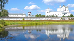Reflection on the water (Monastery)6 Stock Footage