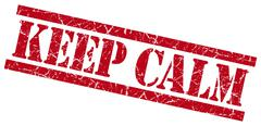 Stock Illustration of keep calm red grungy stamp on white background