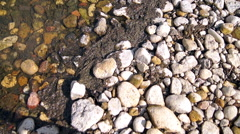 Stone bottom of the lake 4 Stock Footage