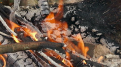 Flame of fire Stock Footage