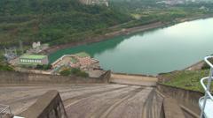Shimen Dam Spillway - hydro power generation - stock footage