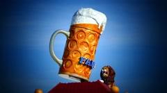 Time Lapse Munich Beer Festival Oktoberfest Octoberfest Paulaner Beer Mug Stock Footage