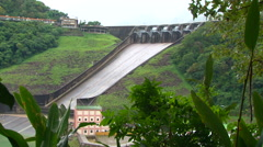 Shimen Dam - Hydro Power Generation Stock Footage