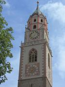 merano bell tower, sud tirol - stock photo
