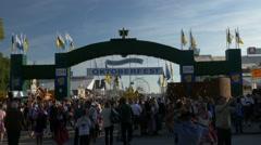 TL 4K FHD Munich Beer Festival Oktoberfest Octoberfest Main Entrance Crowded Stock Footage