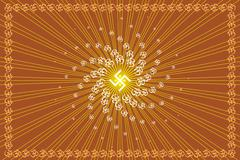 Aum (om) the holy motif Stock Illustration