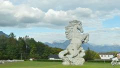 Horse's statue Stock Footage