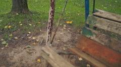 empty park swing (1) - stock footage