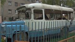 Broken school bus (2) Stock Footage