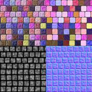 Stock Illustration of glass tiles seamless generated texture (with diffuse, bump and normal map)