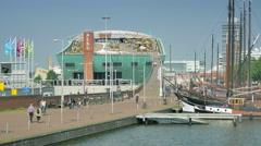 4K Science Center Nemo in Amsterdam Stock Footage