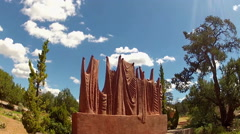 Adoration Sculpture In Sedona Arizona Stock Footage