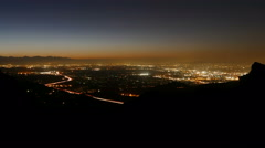 San Fernando Valley Dawn Time Lapse - stock footage