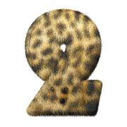 Leopard fur number 2 Stock Illustration