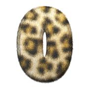 Leopard fur number 0 Stock Illustration