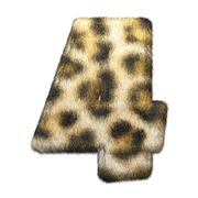 Leopard fur number 4 Stock Illustration