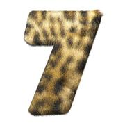 Leopard fur number 7 Stock Illustration
