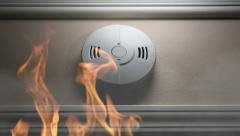 Smoke alarm Stock Footage