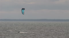 A kite surfer passes away Stock Footage