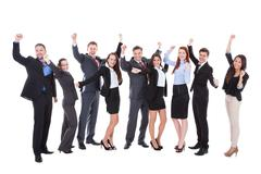 Large group of excited business people Stock Photos