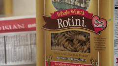 Healthy Whole Wheat Pasta Stock Footage