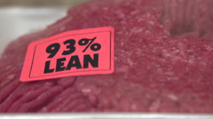 93 Percent Lean Ground Beef Stock Footage