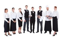 Large group of waiters and witresses Kuvituskuvat