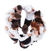 Waiters and waitresses standing in circle Kuvituskuvat