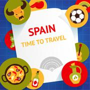 Spain background template Stock Illustration