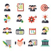 Business Management Icons - stock illustration